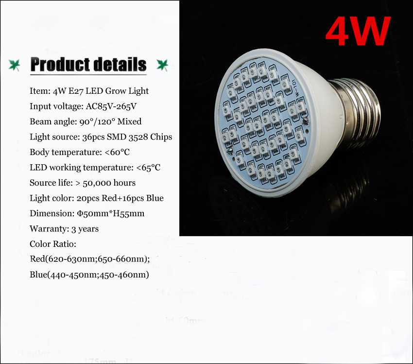 E2718w 30w 45w 80w Led Grow Light Full Spectrum Indoor
