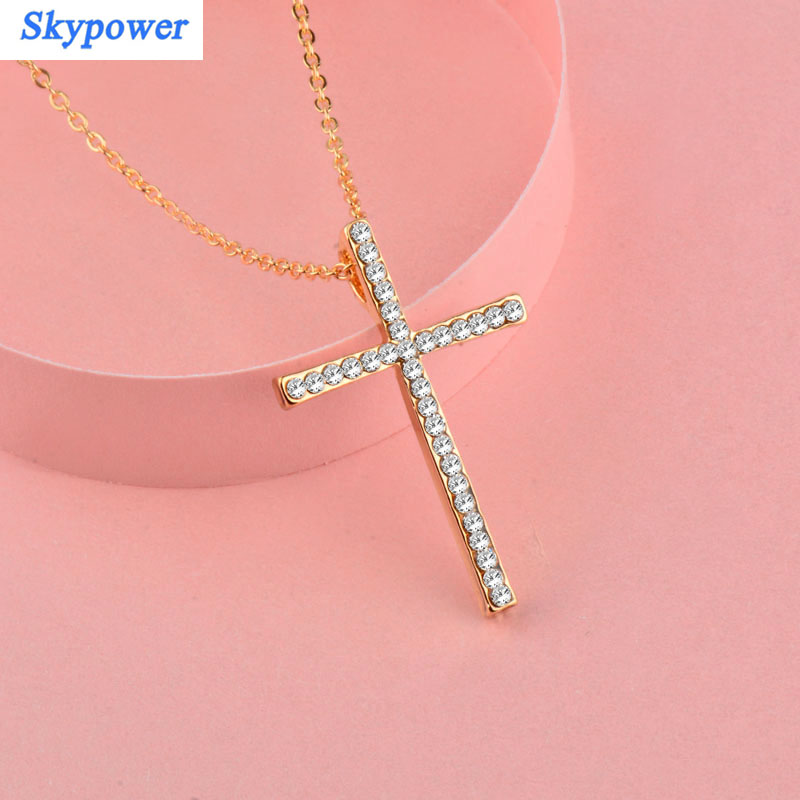 MoAndy Rose Gold Plated Heart Necklace for Women Pendant Chain CZ