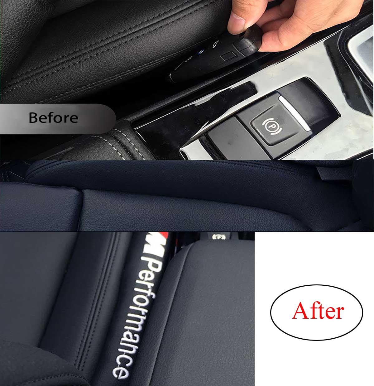 2x Car Seat Gap Filler Side Gap Blocker Leakproof Padding