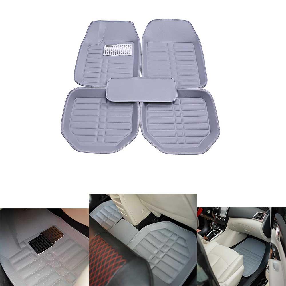 Car Floor Mat Liner Pu Leather Auto