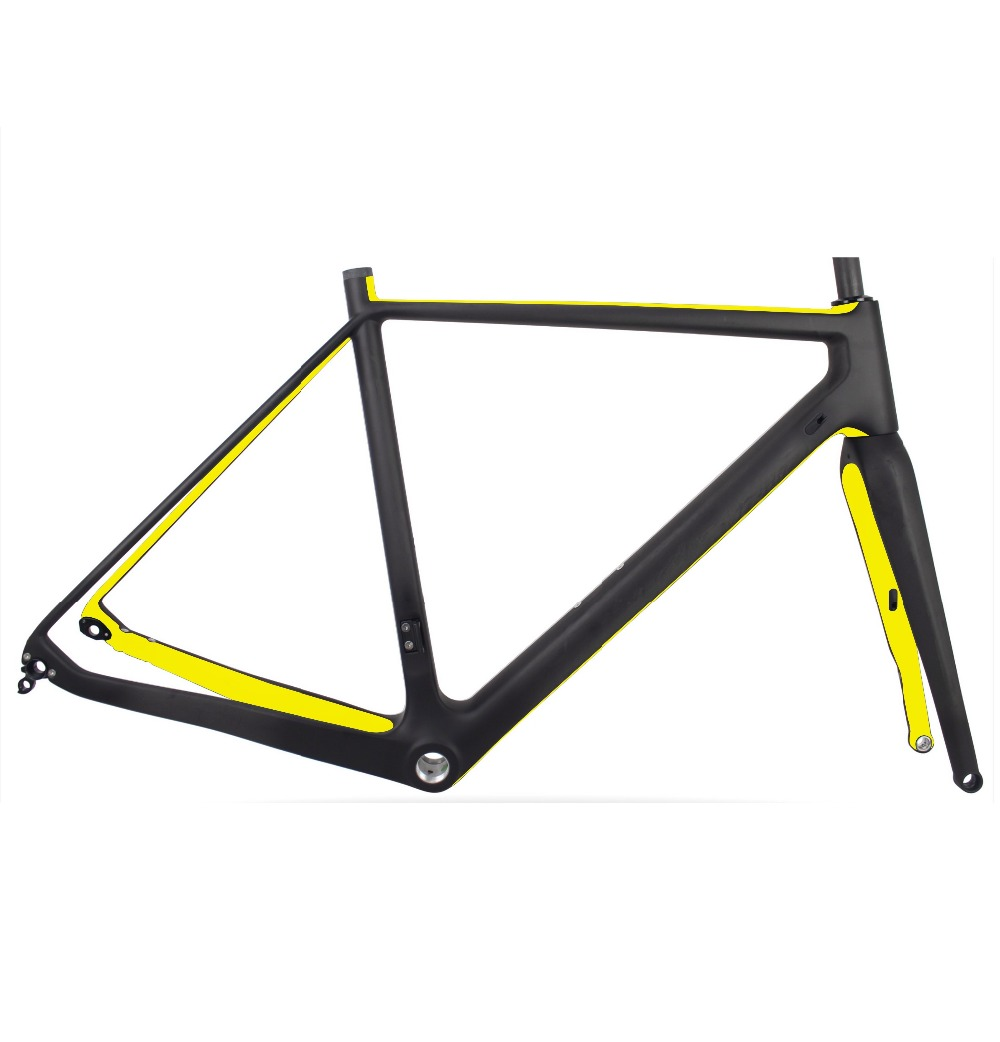 Carbon Disc Cyclocross Bike Frame+Fork 700C BSA/BB30 CX Gravel Bike ...