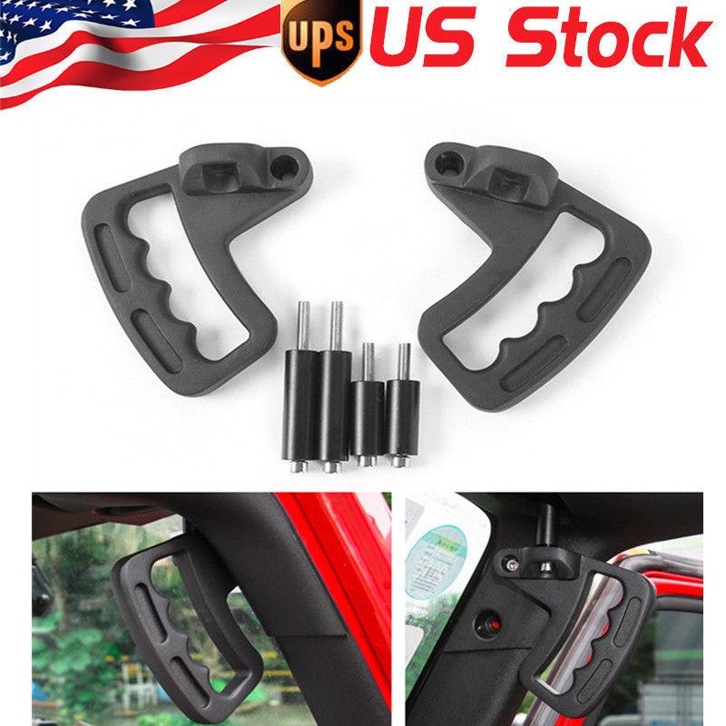 2pc Aluminium alloy Grab Handle for 07-17 Jeep Wrangler JK JKU 2//4Dr Front Black