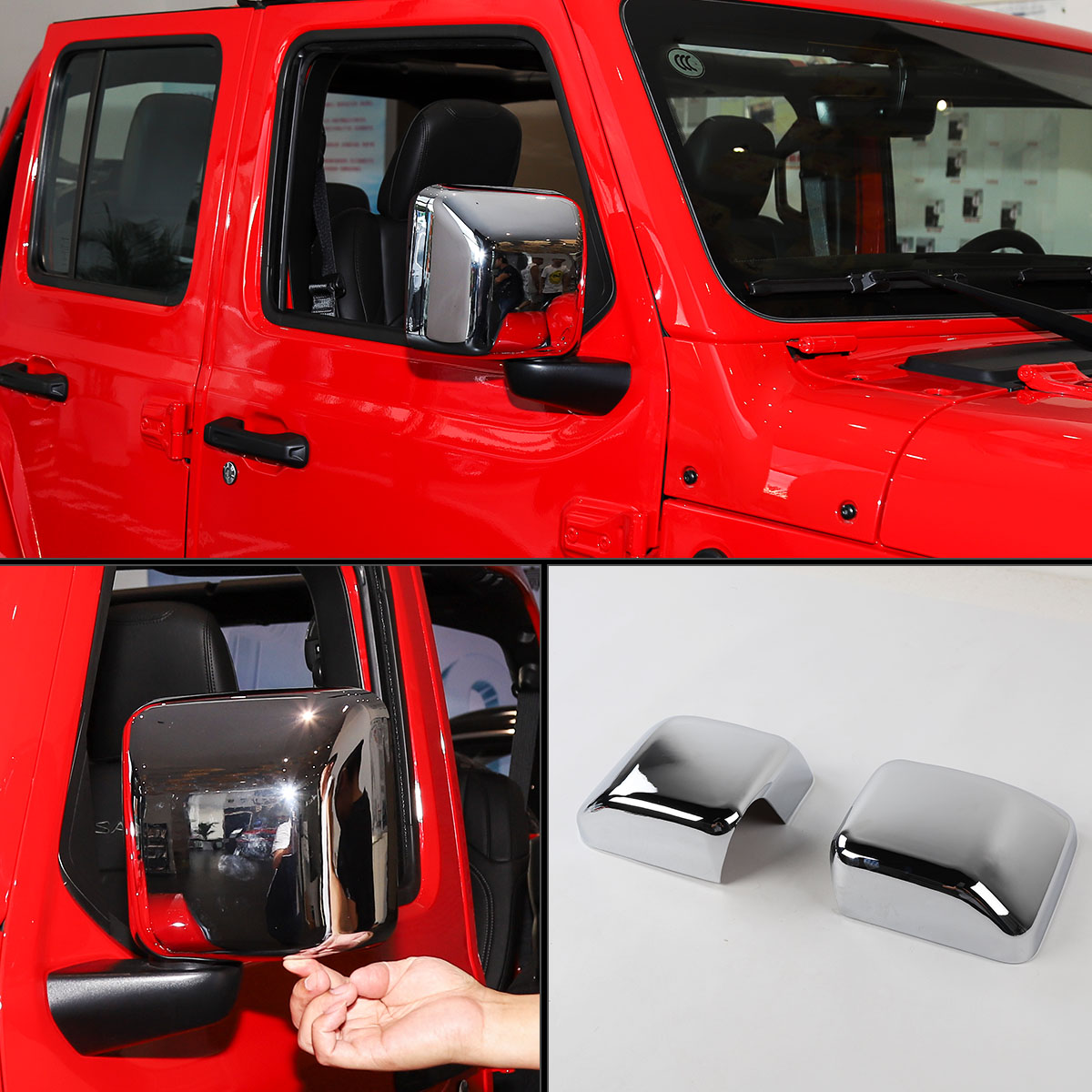 Replacement Abs Chrome Side Door Wing Mirror Cover Cap