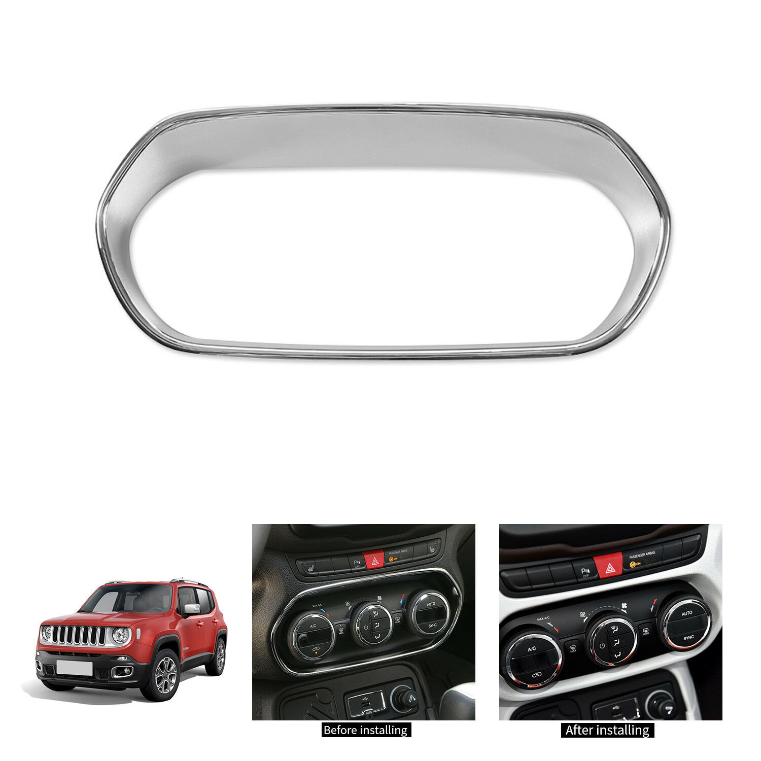For 2018 Jeep Wrangler JL Matte ABS headlight switch frame decorative cover trim