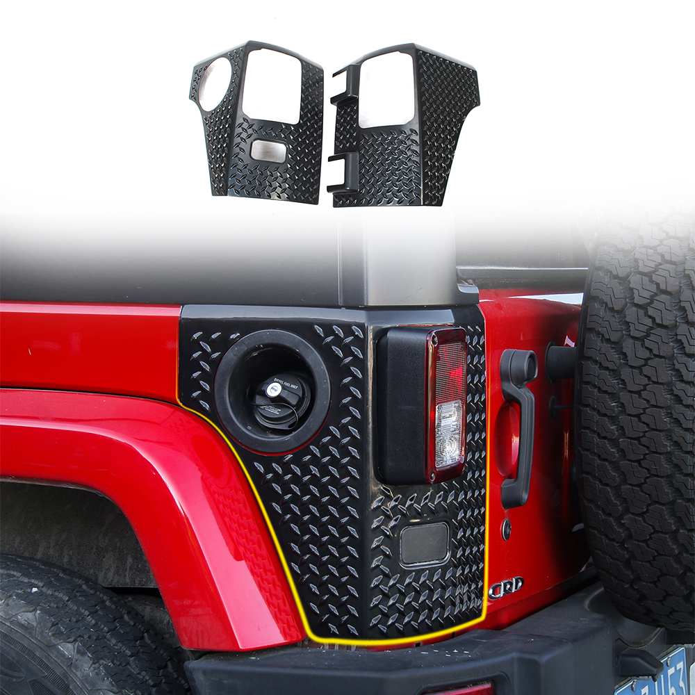 Red JeCar Body Armor Corner Guards Hood Guard for 2007-2017 Jeep JK Rubicon Sahara Sport X /& Unlimited Jeep Accessories 1Pair