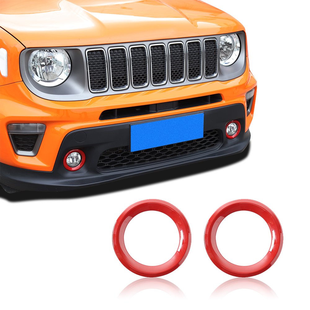 RT-TCZ Gear Shift Panel ABS Trim Cover Frame Decor for Jeep Renegade 2015 2016 2017 red
