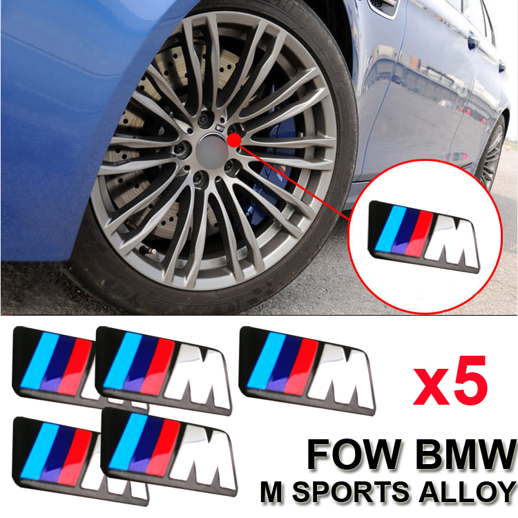 5x M Badge Metal Sticker Emblems Decal All Series M Sports Alloy ...