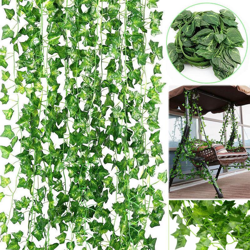 Artificial Ivy Garland Fake Vine Trailing Leaf Hanging Plant Foliage 2.5M Length