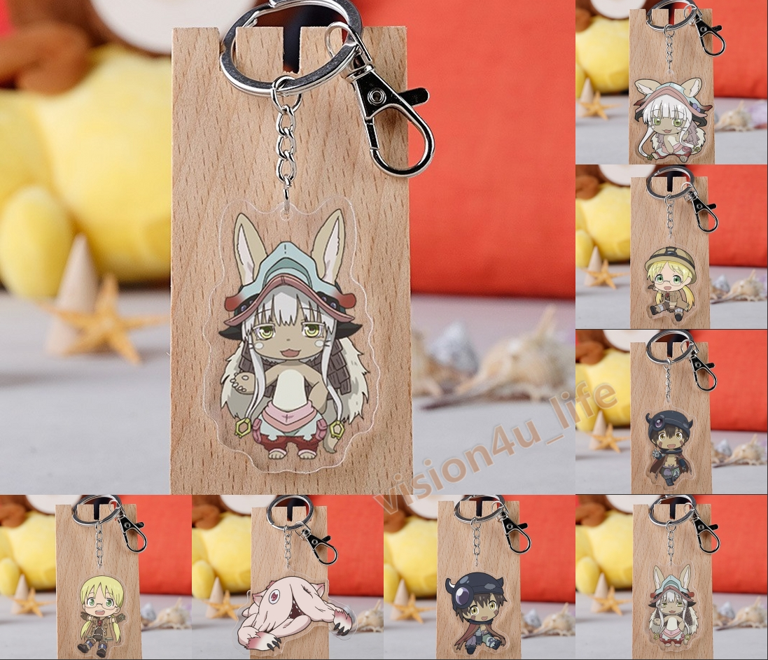 Set of 3 Made In Abyss Anime Acrylic Keychain Regu Riku Nanachi v1