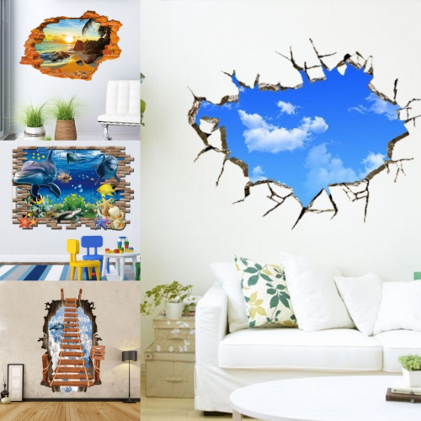 Removable 3D Flooring Wall Stickers Murals Wallpapers Decals Art Home  Decoration Part 39