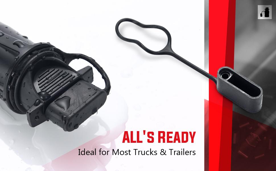 Mictuning 7 Way Flat Blade To 4 Way Pin Adapter Trailer