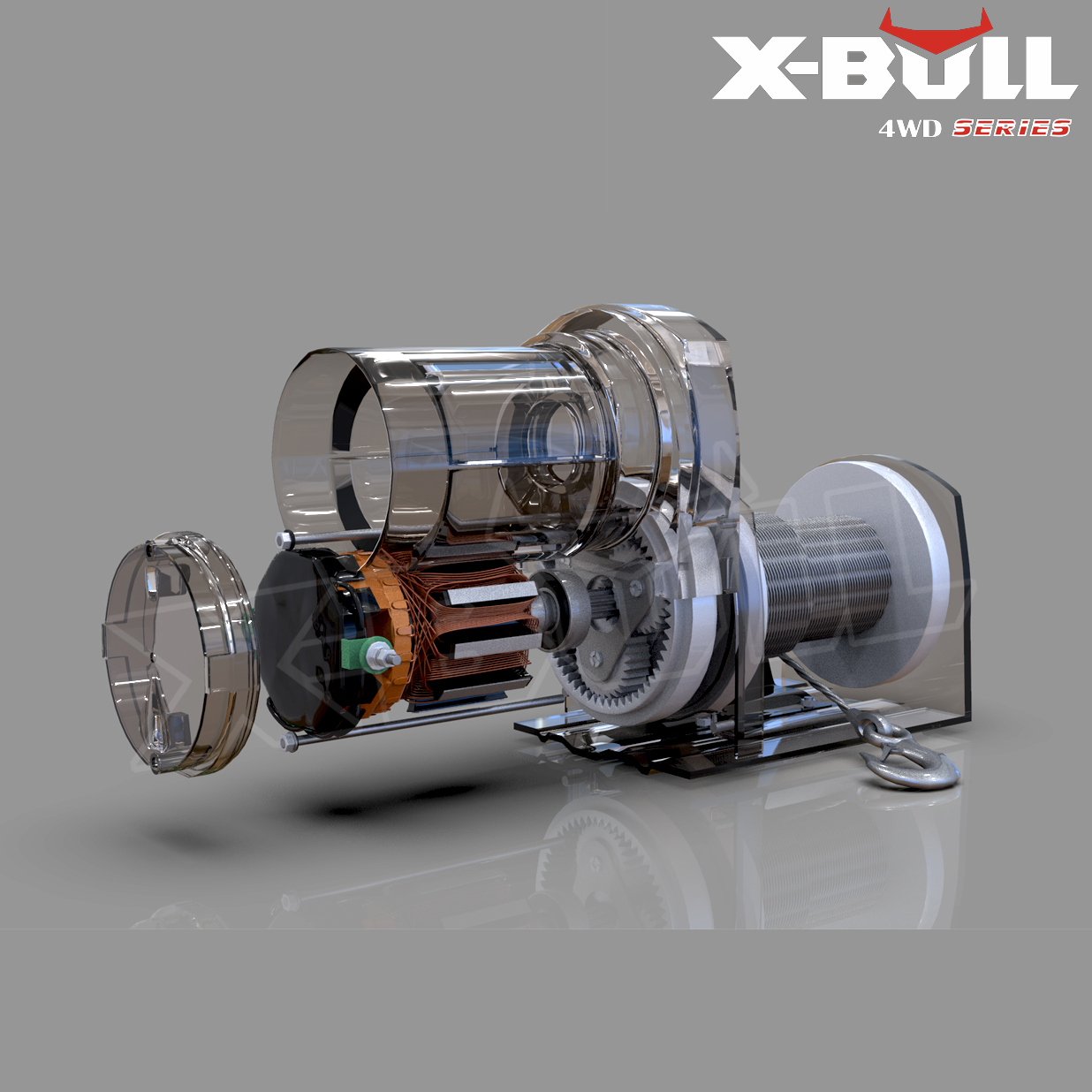 X-BULL 3000LBS /1361KGS Electric Winch Synthetic Rope 12V 10M Wireless ATV 4WD 2