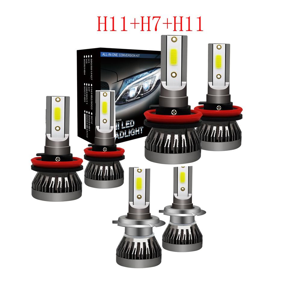 LED Headlight Kit H11 White 6K Low Beam CREE Bulb for HYUNDAI Santa Fe 2013-2016