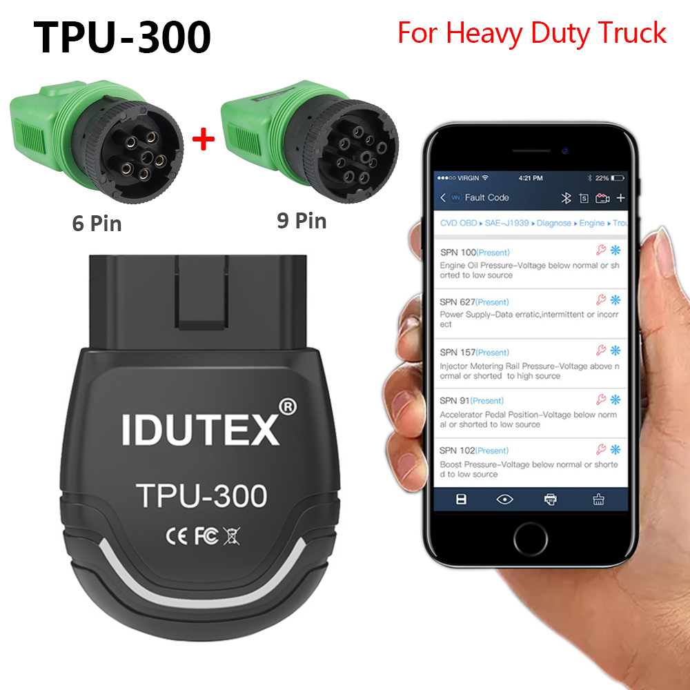 Vehicle Code Reader >> Details About Obd2 Scanner Heavy Duty Diesel Truck Diagnostic Scan Tool Tpu300 Car Code Reader