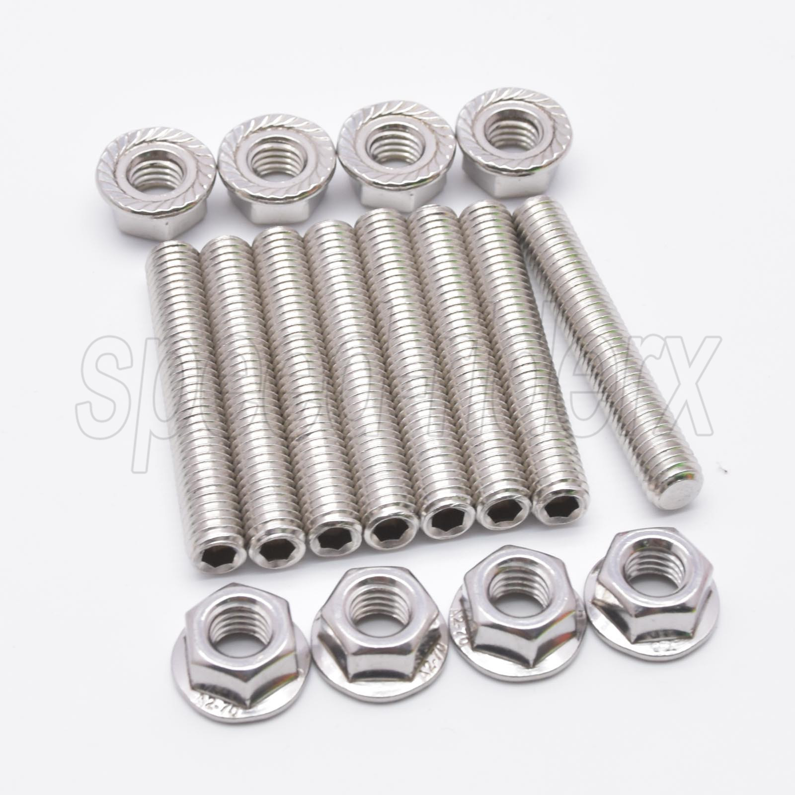 YHB 16PCS Stainless Exhaust manifold Stud Compatible With Ford 4.6 /& 5.4 Liter V8