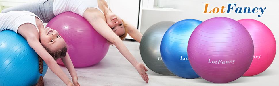 65cm//26/'/' Yoga Ball Exercise Fitness Balance Gymnastic Strength Pilates Air PUMP