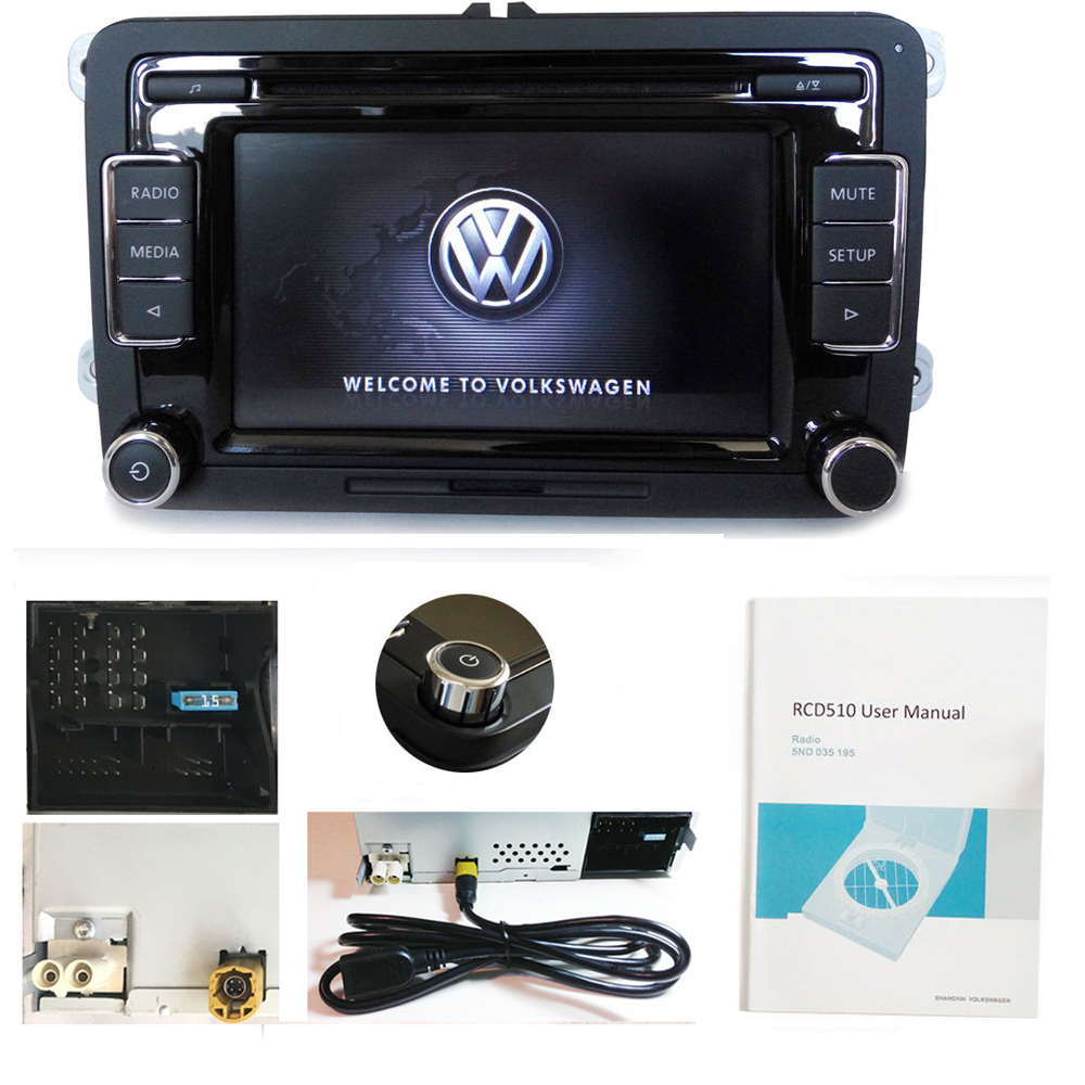 autoradio vw rcd510 cd aux usb sd code tiguan passat polo. Black Bedroom Furniture Sets. Home Design Ideas