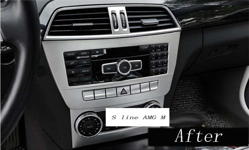 3x Air Conditioning CD Panel Trim For Mercedes Benz C Class