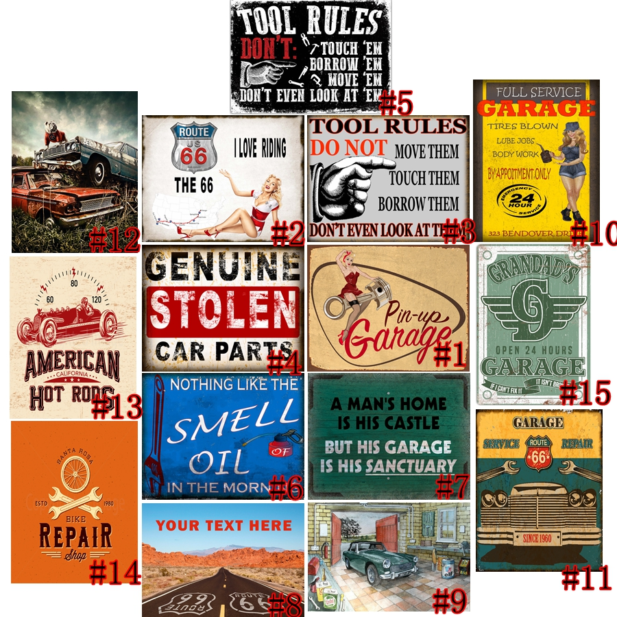A MANS HOME IS HIS CASTLE BUT HIS GARAGE METAL SIGN RETRO VINTAGE STYLE SMALL