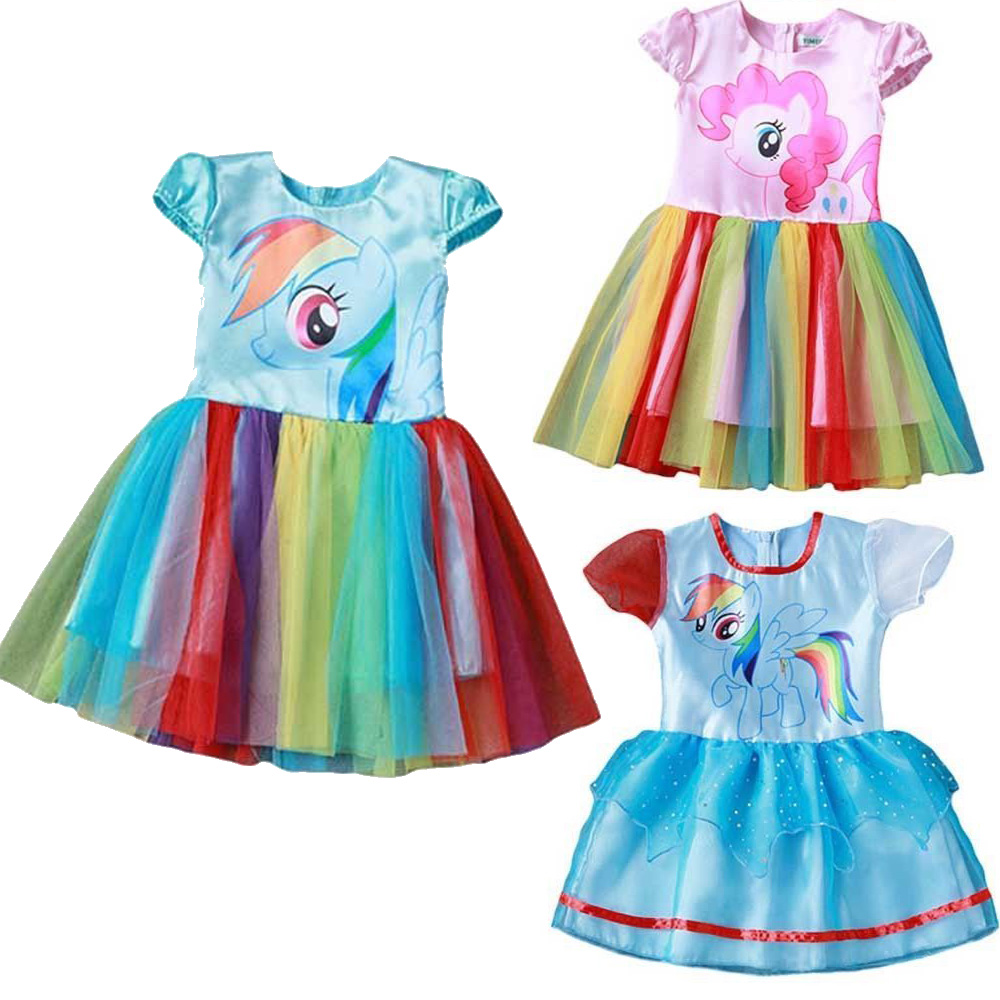 My Little Pony Party Dress Costumes Girls Kids Casual Tutu Dresses ...