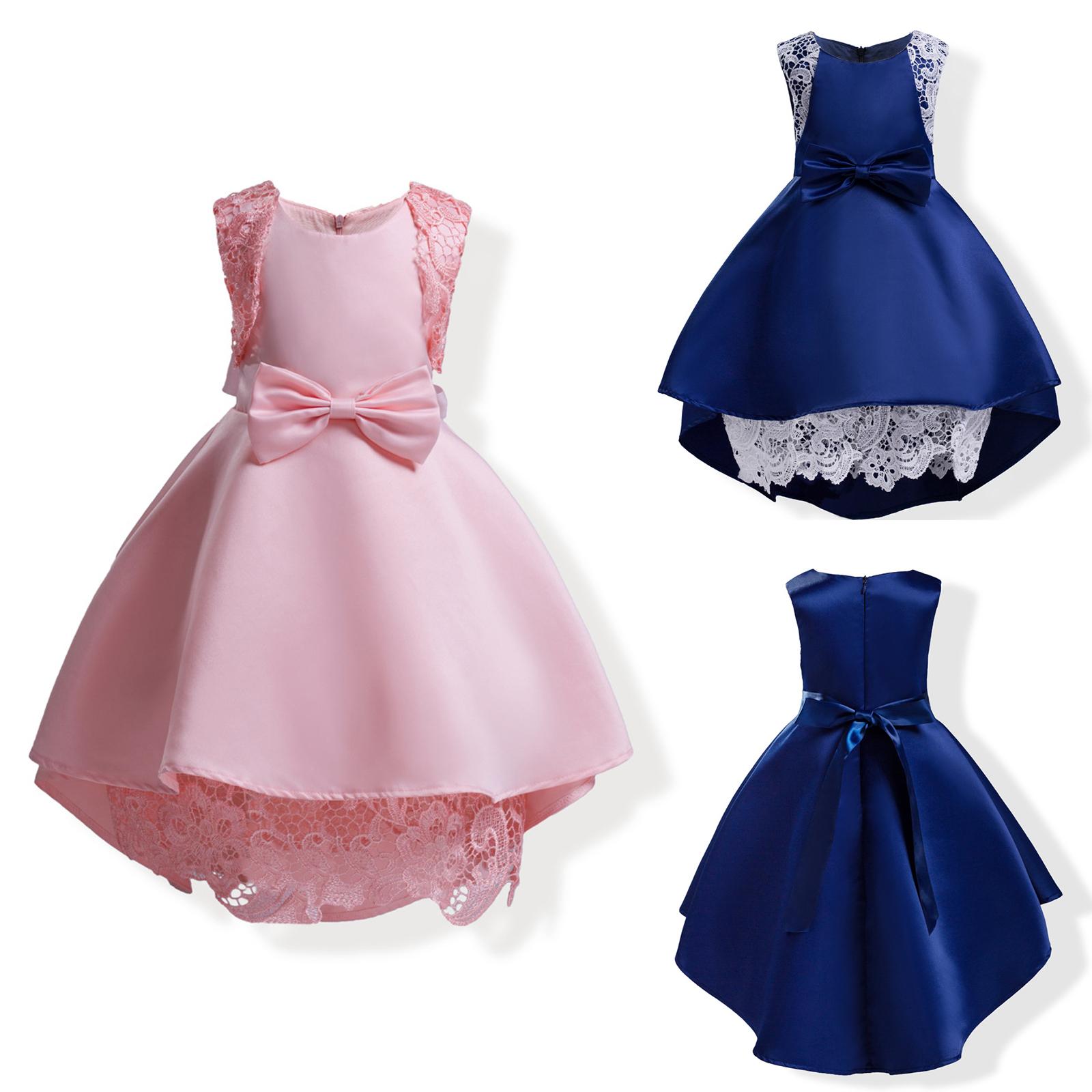 Flower Girls Kids Baby Sleeveless Princess Dress Wedding Party Pageant Dresses
