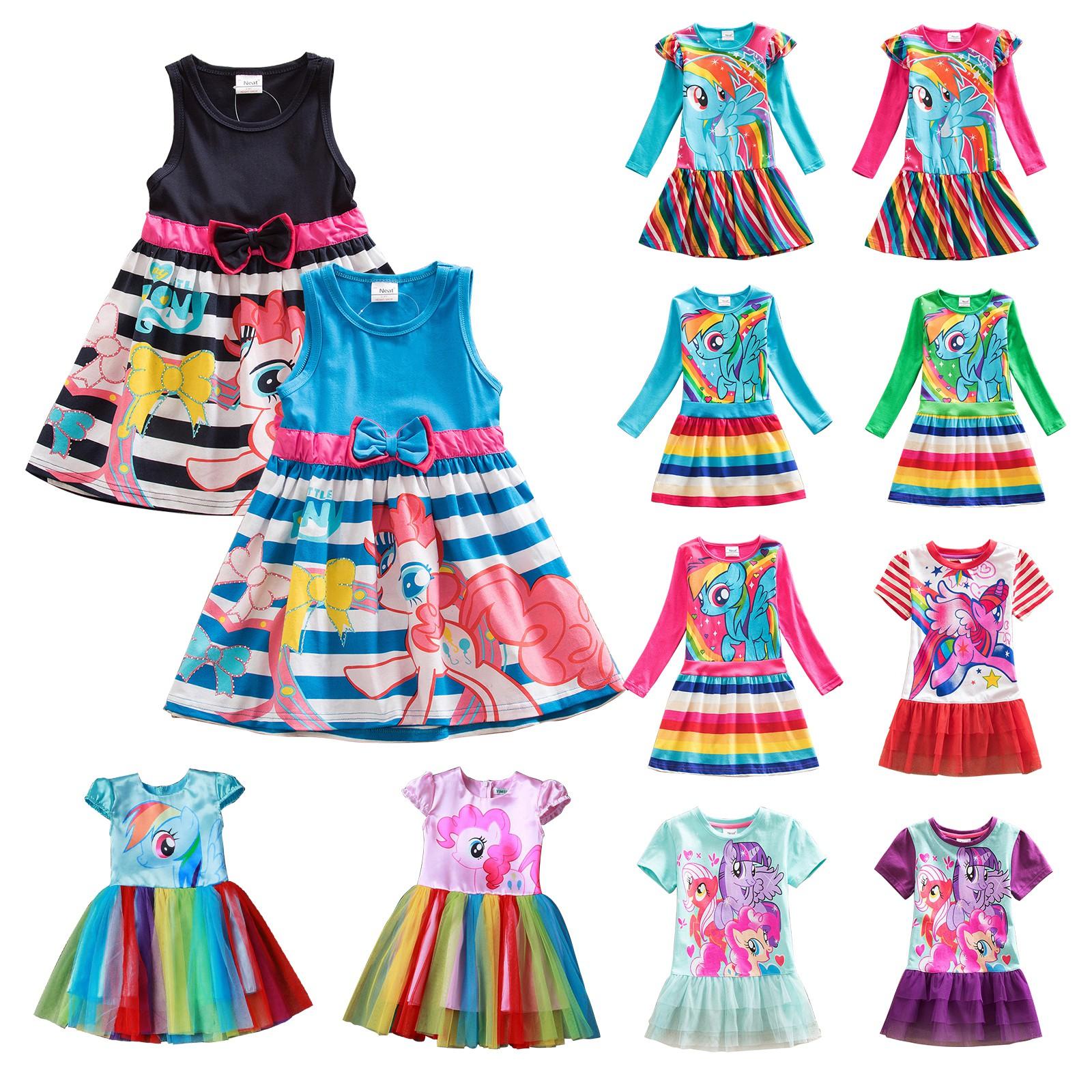 Child Girls Kids My Little Pony Dress Party Birthday Fancy Dresses ...