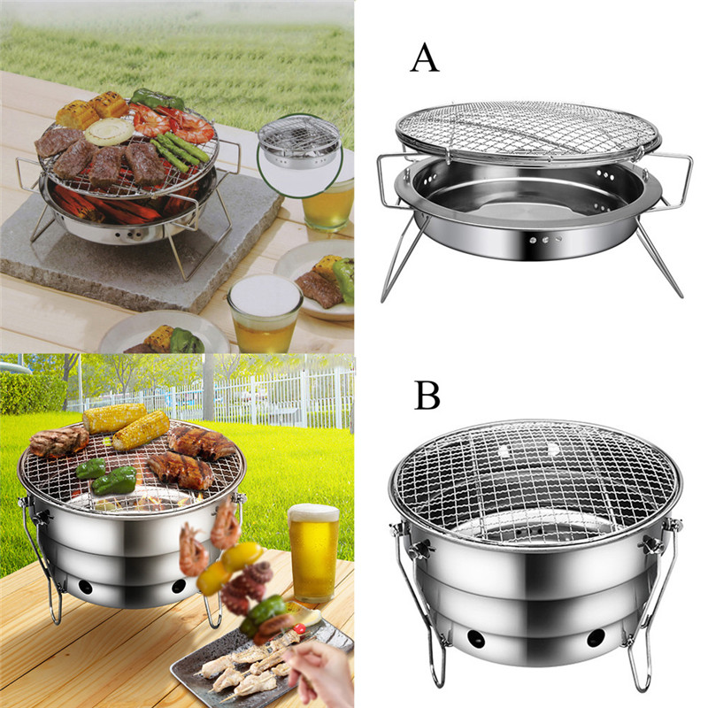 Image Is Loading  BBQ Barbecue Folding Portable Grill Charcoal Outdoor Camping