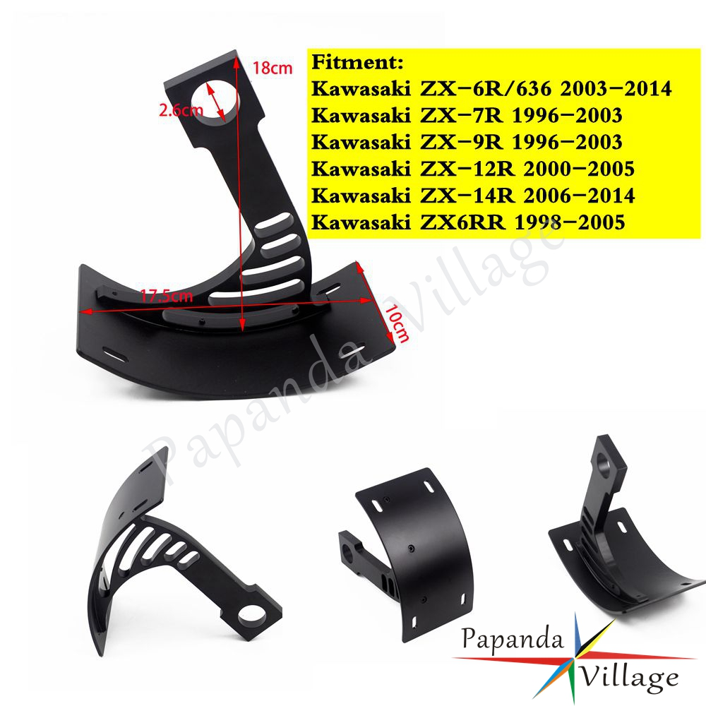 Motorcycle Slide Mount License Plate Tag Holder Bracket For Kawasaki ZX-7R ZX-9R
