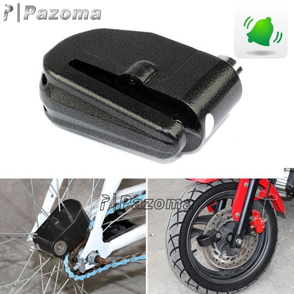 Anti theft Motorcycle Motorbike bike Disc Lock Alarm with Keys Black