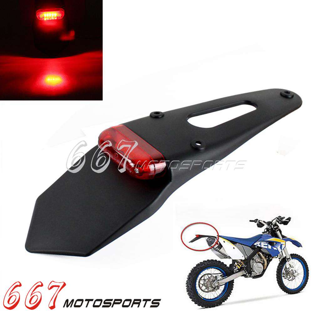 XR Dirt Bike Enduro Cafe Custom Universal Motorcycle 12v Tail Light Assembly