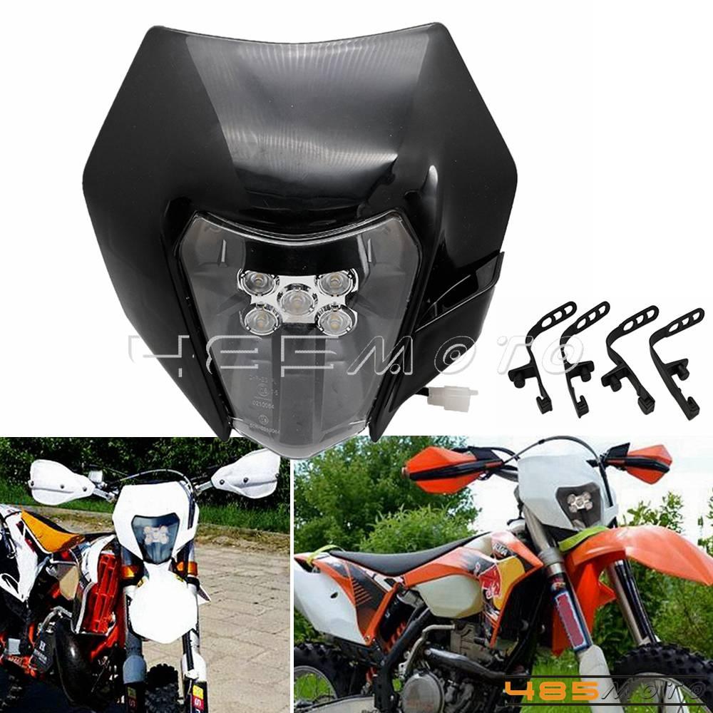 Dirt Bike LED Enduro Headlight Head Lamp For KTM EXC XCF