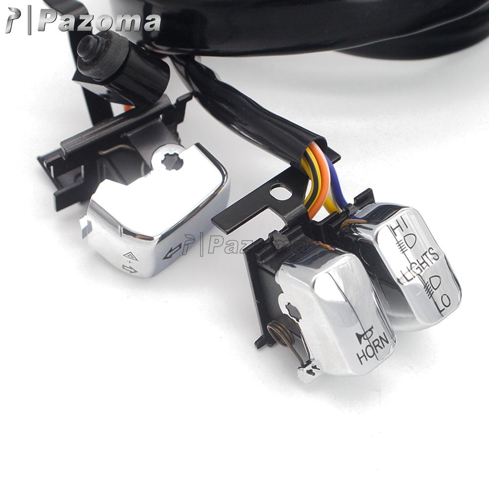 "[CSDW_4250]   Left & Right Handlebar Switch Kit w/ 45"" Wiring Harness For Harley Street  Glide   eBay   2007 Street Glide Handlebar Switches Wiring Diagram      eBay"