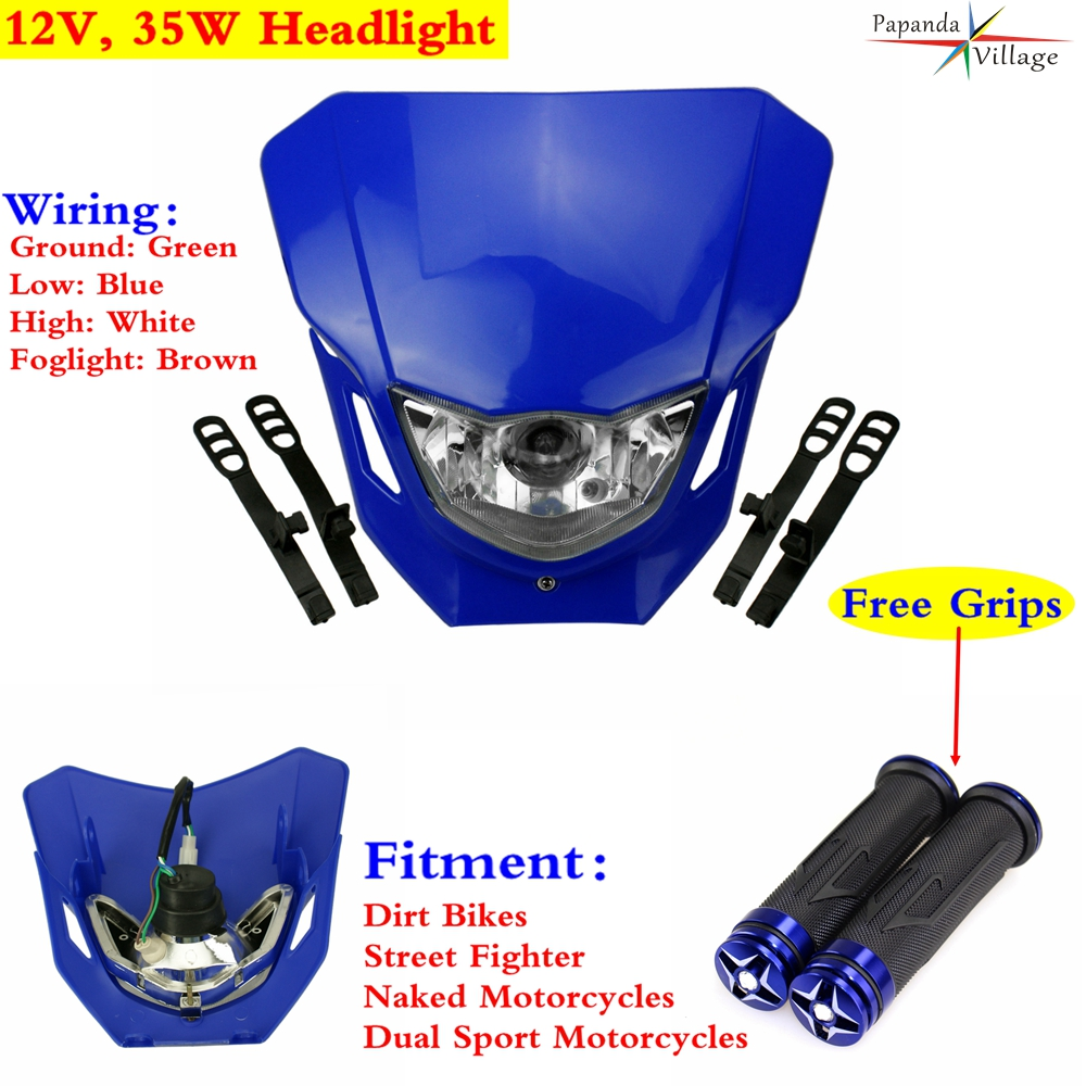 Dirt Bike Street Fighter Motorcycle Headlight Headlamp Fairing For Yamaha WR250F