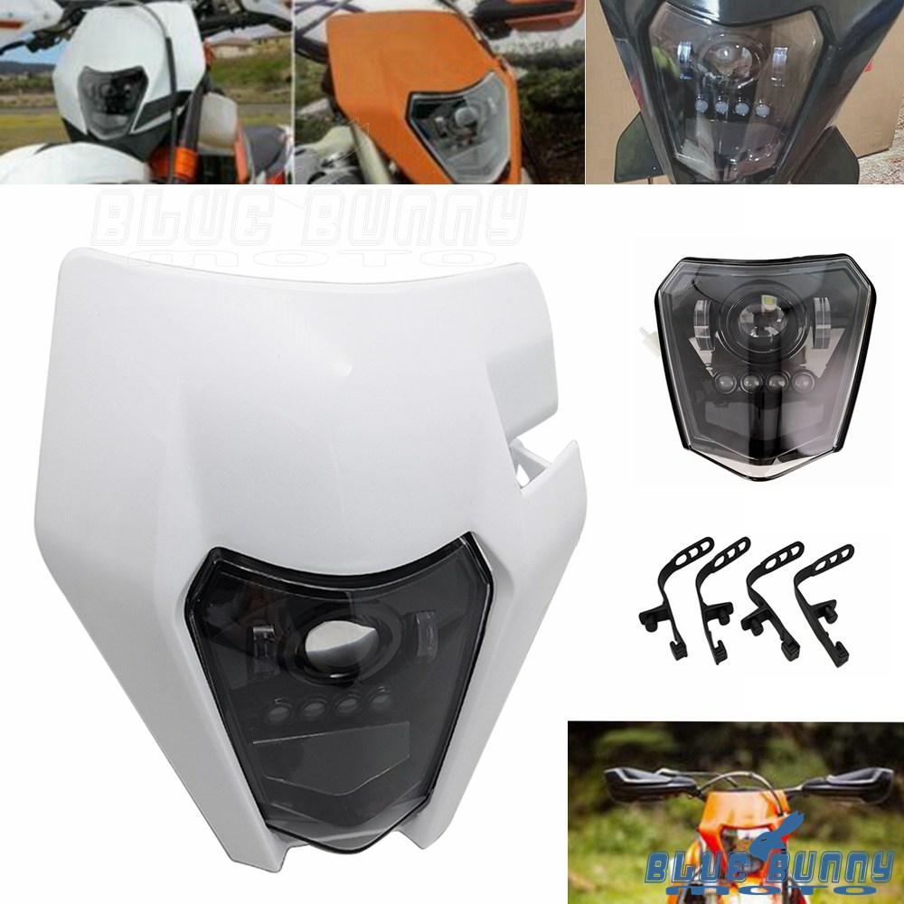 KTM EXC XC MXC 250 450 520 525 530 Orange Dirt Bike Headlight Head Lamp Fairing | eBay
