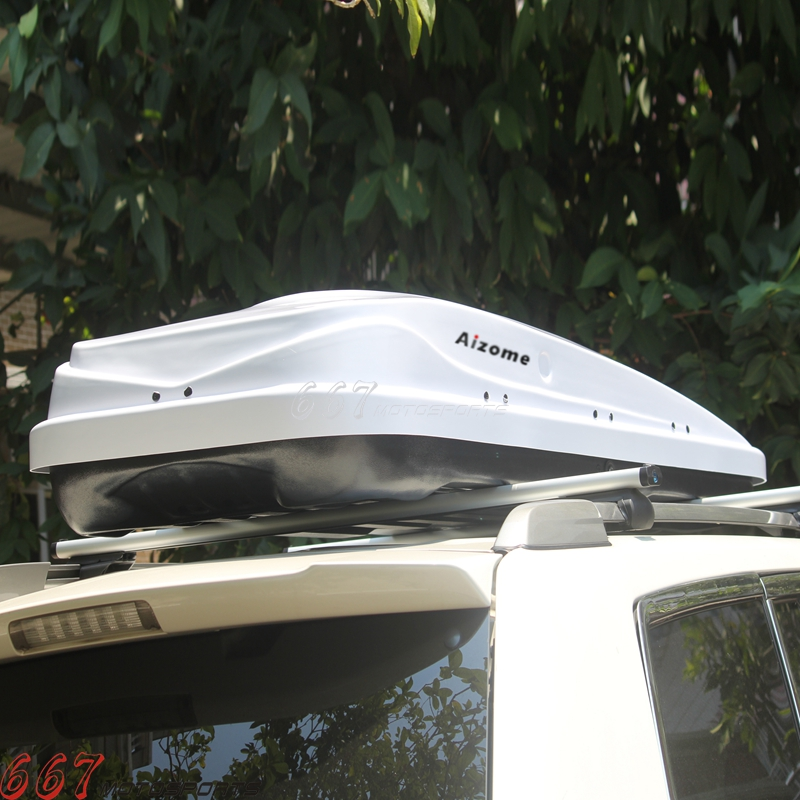 White 450l 85kg Dual Side Opening Car Roof Rack Luggage