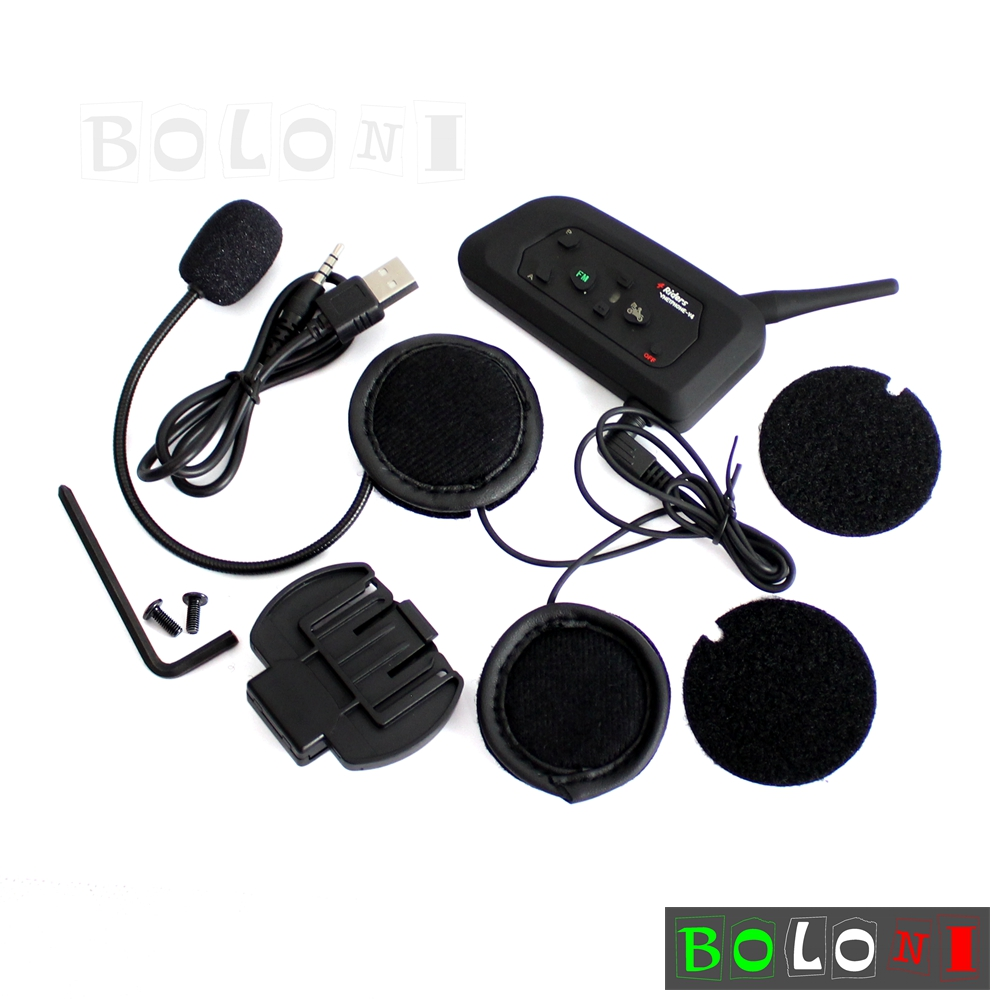 1200m BT Bluetooth Motorcycle Helmet Intercom Headset ...