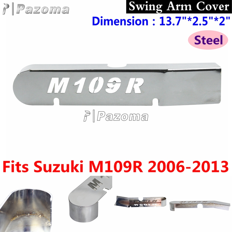 Chrome Motorcycle Steel Swing Arm Covers New For Suzuki M109R 2006-2013 07 08 09