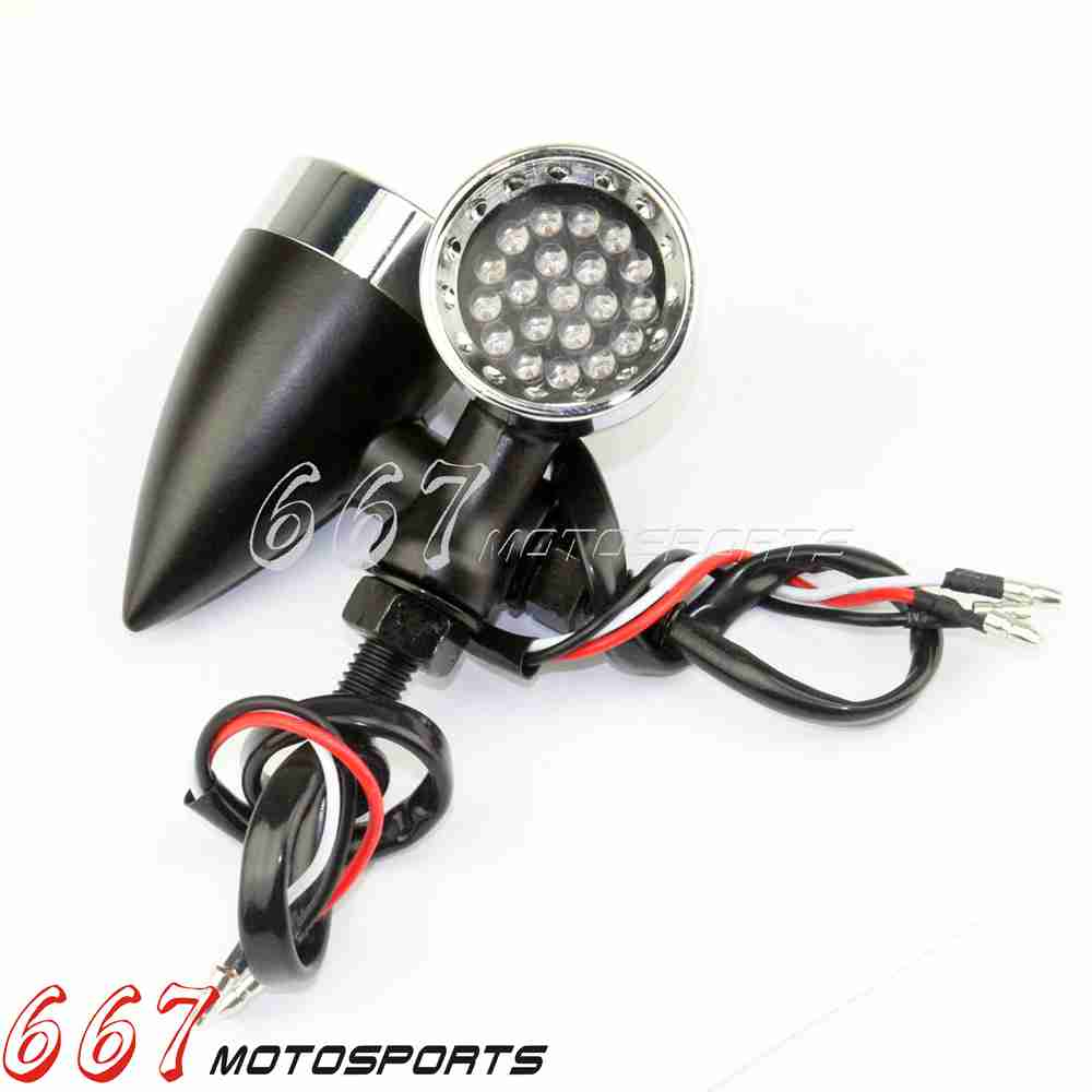 motorcycle led aluminum turn signals mini bullet blinker. Black Bedroom Furniture Sets. Home Design Ideas