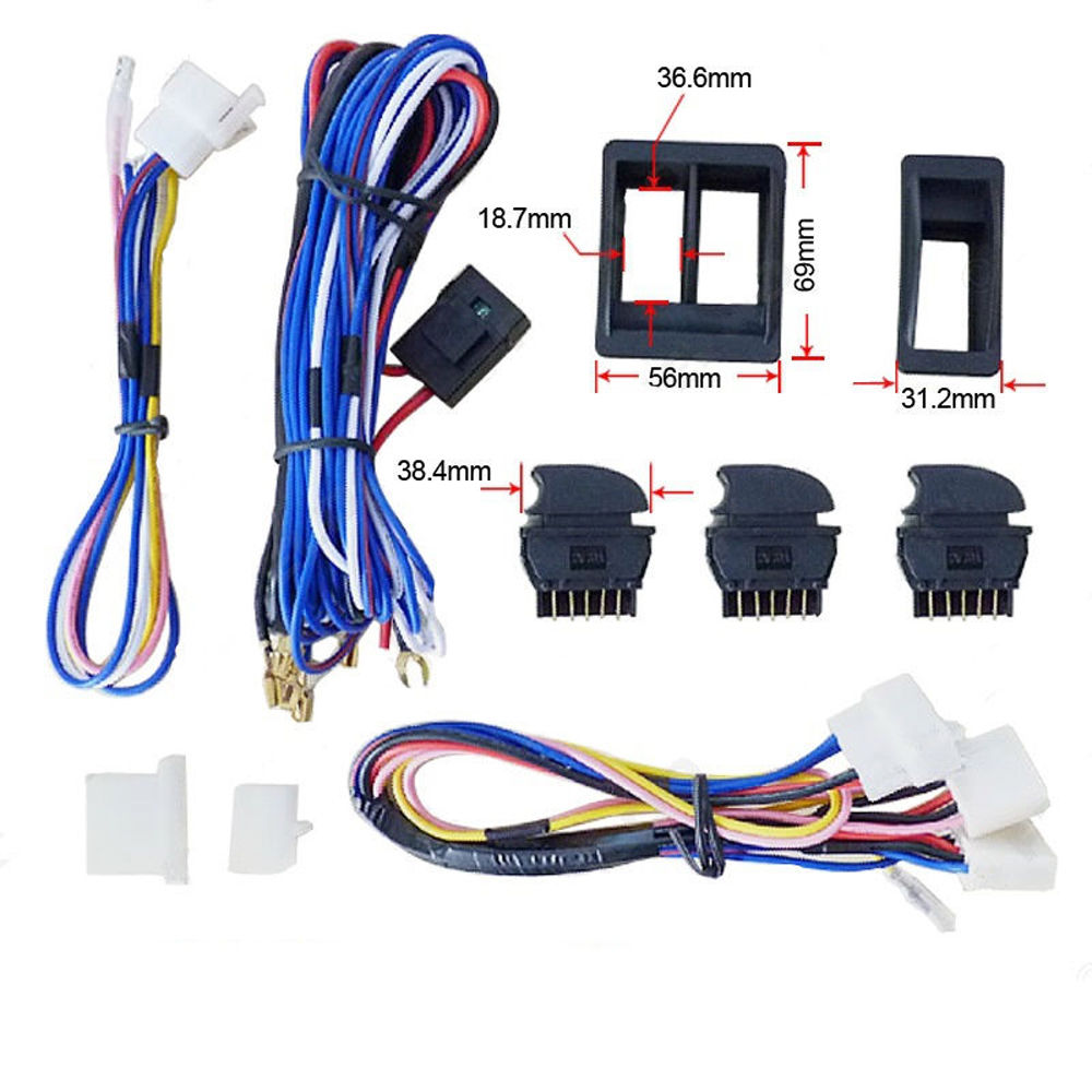 For Nissan Pathfinder X Trail 12v Power Window Switch Kit With Wire Harness New