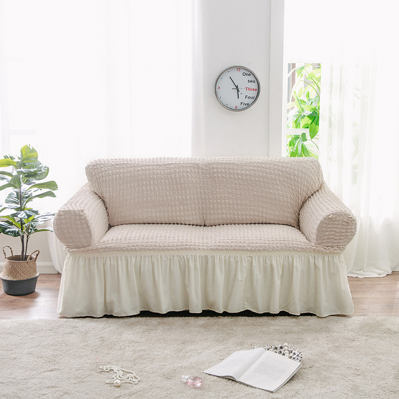 Jacquard Sofa Covers Couch Slipcover Soft Stretch Elastic