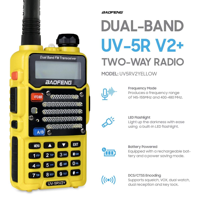 Baofeng Uv 5r Dual Band Uhf Vhf Walkie Talkie Ham Fm Two Way Radio Ht Bf Uv5r Red