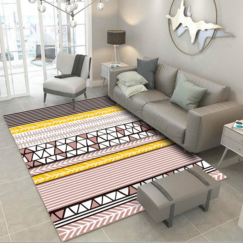 Modern Geometric Trellis Moroccan Carpet Soft Floor Area