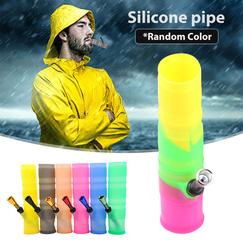 Foldable-Silicone-Non-toxic-Portable-Tobacco-Hookah-Water-Pipe-Bong-Portable