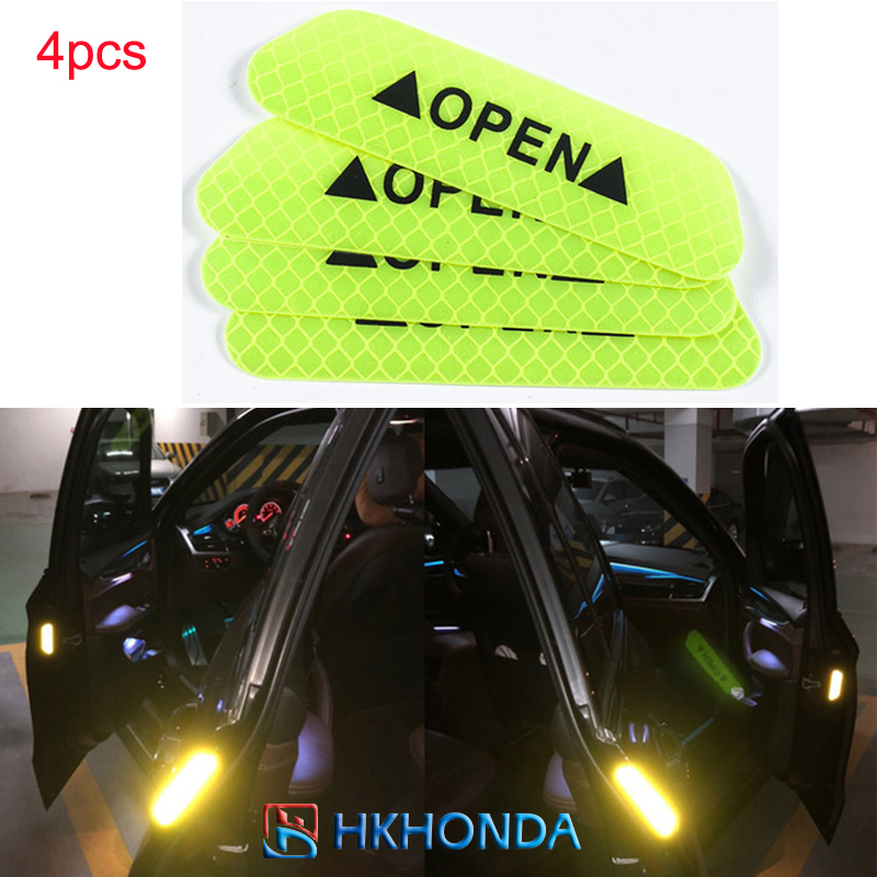 4X Plastic Reflectors with Anti-collision Warning Car Stickers Reflective Strip