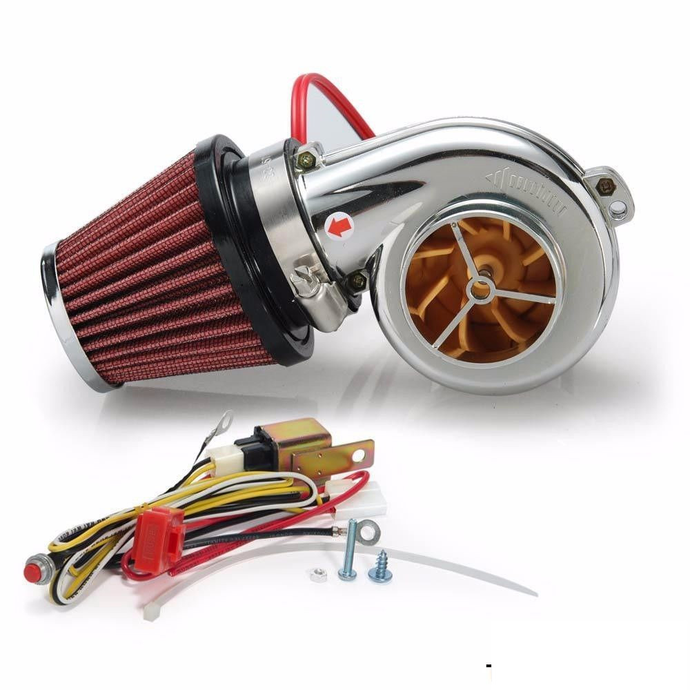 Mini Turboprop Engine: DIY Turbo 500 Motorcycle Electronic Turbocharger MINI Car