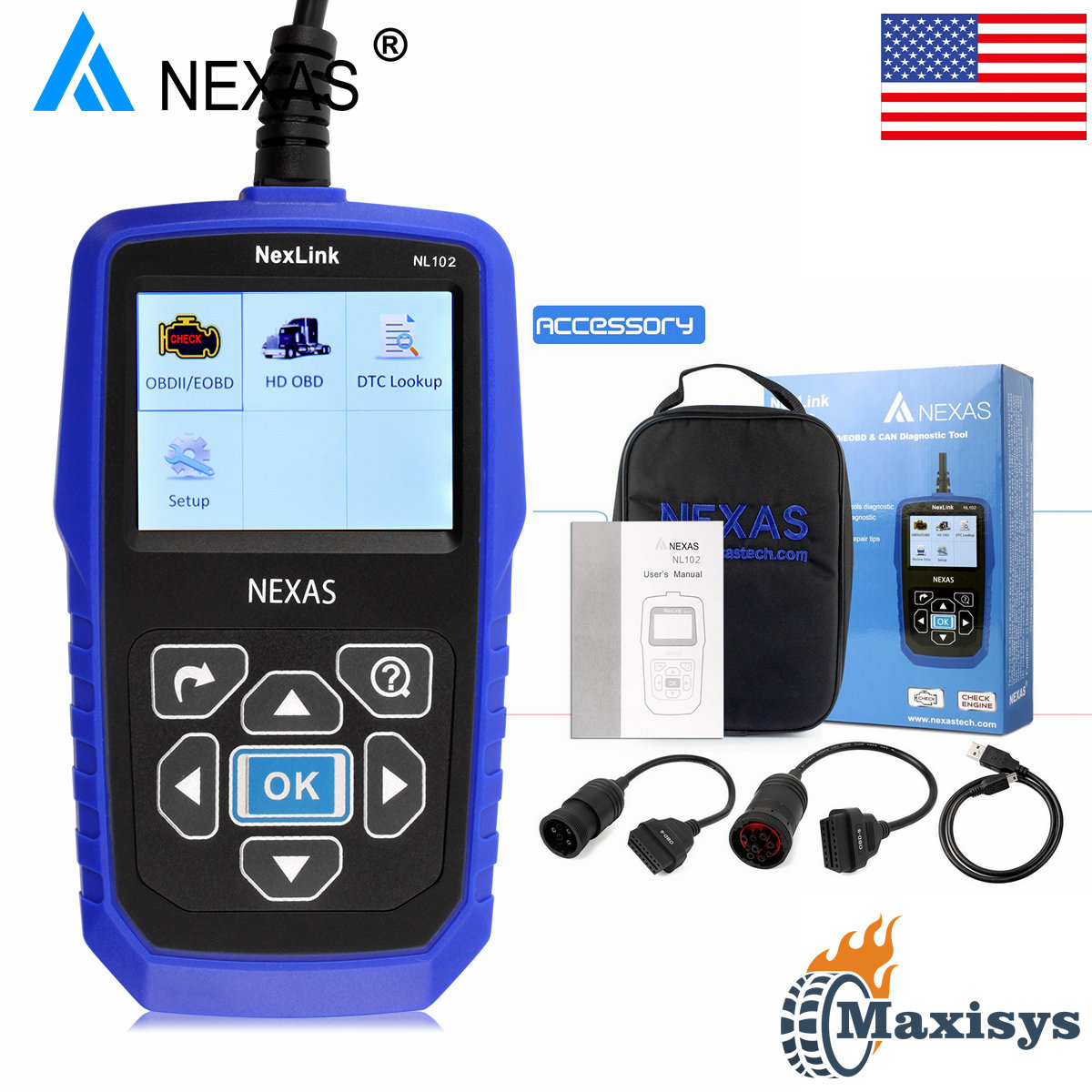 Universal heavy duty diesel truck scanner diagnostic tool obd2 hd code reader
