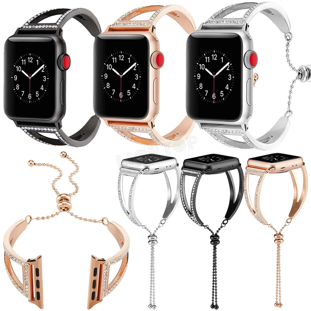 8b9dbbf80 Details about Women Crystal Bling Luxury Bracelet Bands For 2018 Apple Watch  Series 4 40/44mm