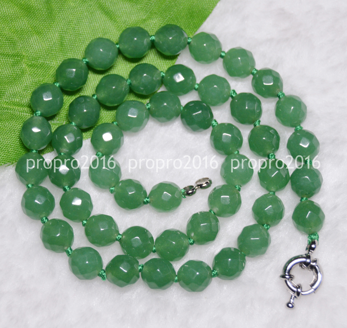 """New Huge 6x10mm Green Emerald Faceted Roundel Beads Necklace 18/"""""""
