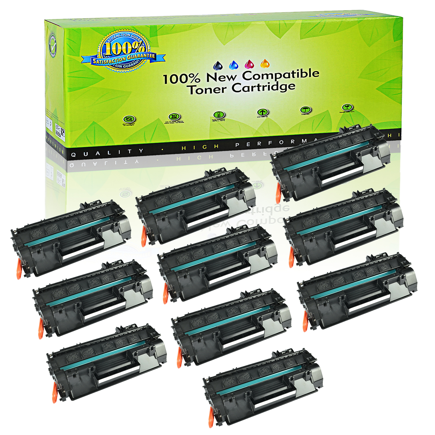10 Pack High Yield CF280X 80X Toner For HP LaserJet Pro 400 M401dw M401dne M401n
