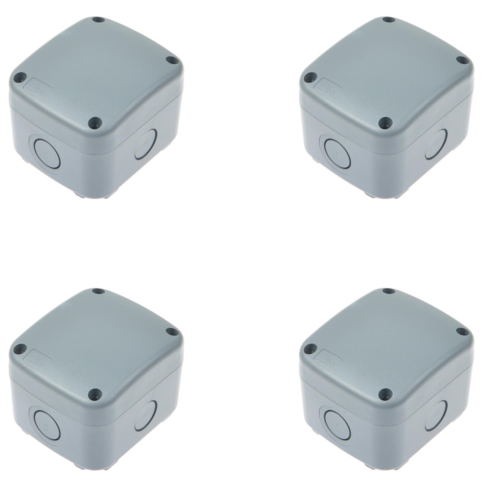 Fabulous 4 Pk Ip66 Waterproof Outdoor Junction Box Weatherproof Junction Wiring 101 Capemaxxcnl